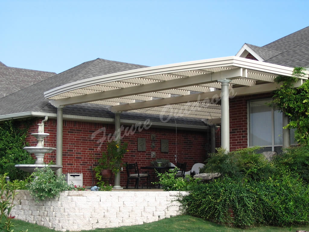 Vinyl pergolas vinyl shade structures in dallas for Shade structures