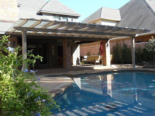 Vinyl pergolas vinyl shade structures in dallas for Home shade structures