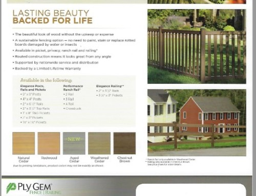 Woodland Select Fence Colors