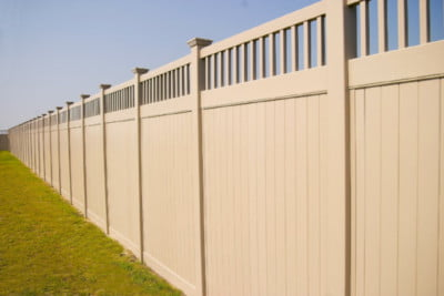 Vinyl Privacy Fence with Accent
