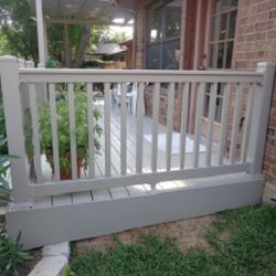 Vinyl deck with railing in Dallas.