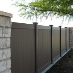 Black Vinyl Fence in Dallas Texas
