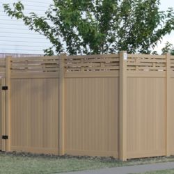 Tan Vinyl Fence in Dallas