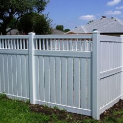 White privacy fence styles