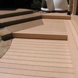 Woodgrain vinyl deck Dallas